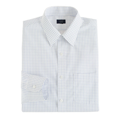 Slim non-iron dress shirt in baltic check