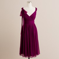 Silk chiffon beaujolais dress