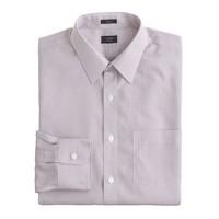 Slim non-iron dress shirt in microtattersall