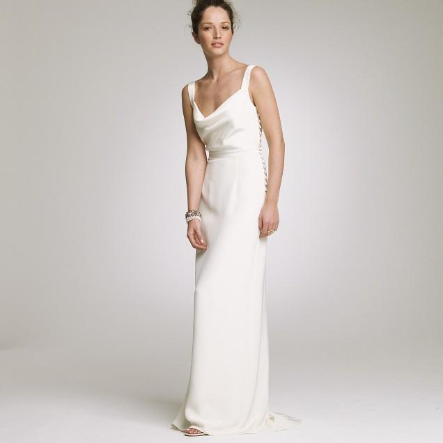 Silk tricotine Tatiana gown