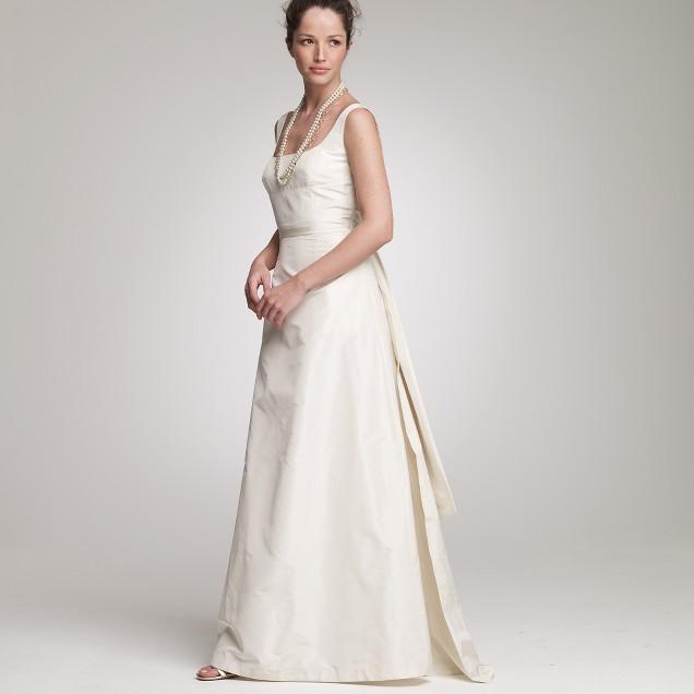 Silk taffeta Tatum gown
