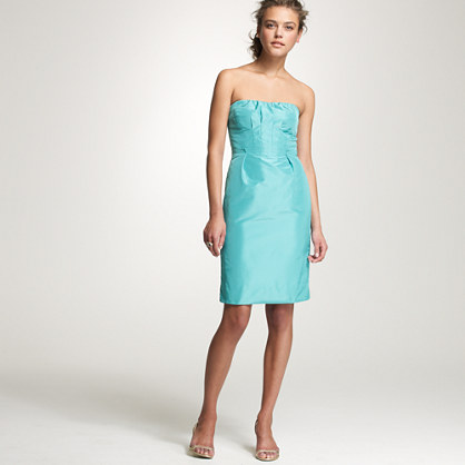 Strapless silk taffeta Gracen dress