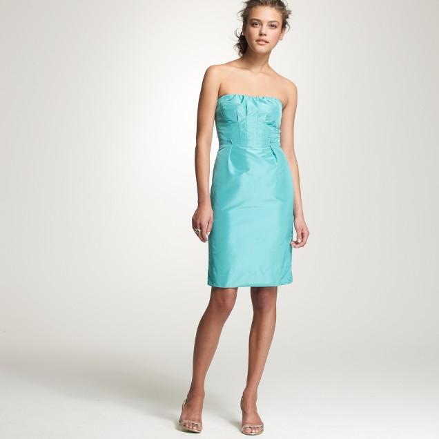 Strapless silk taffeta Gracen dress