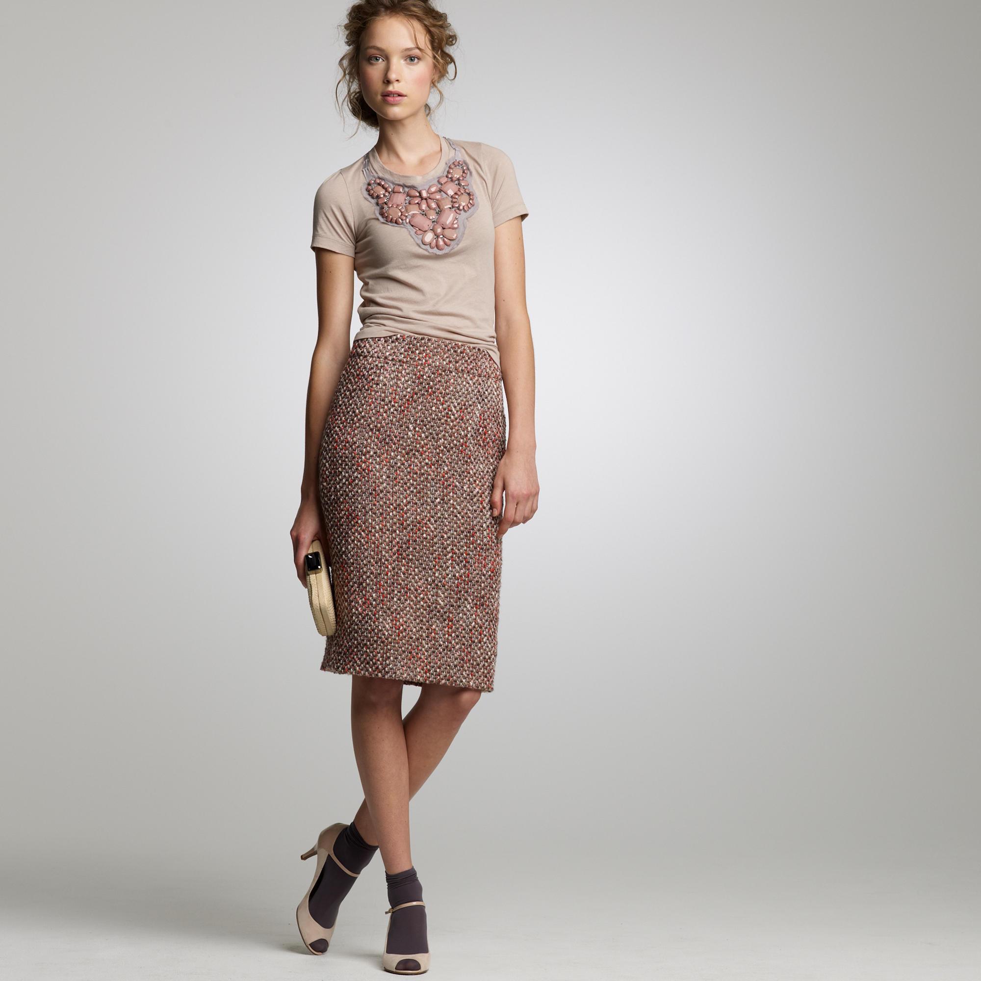 Blushed tweed pencil skirt : | J.Crew