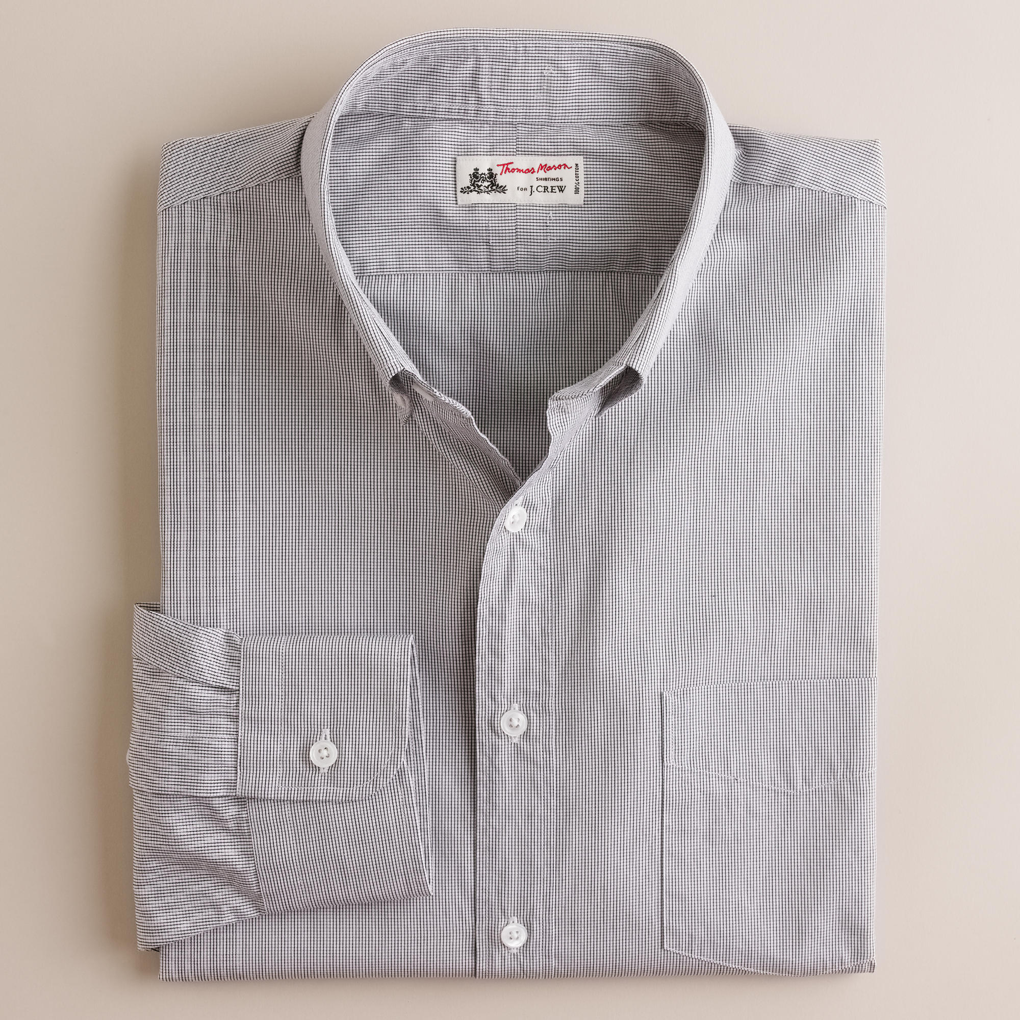 Thomas mason fabric button down dress shirt in micro for Thomas mason dress shirts