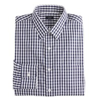 Non-iron dress shirt in gingham