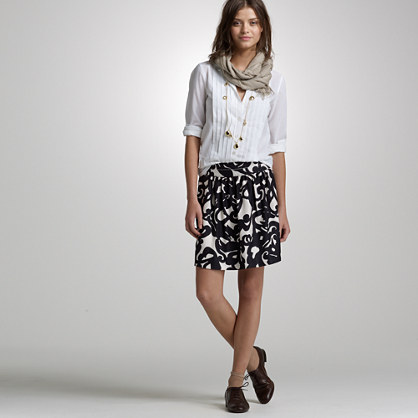 Deco shirred skirt