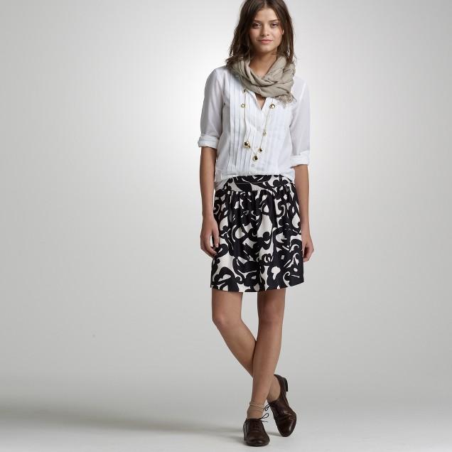 Deco shirred skirt
