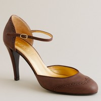 Rebekah perforated-leather platform Mary Janes