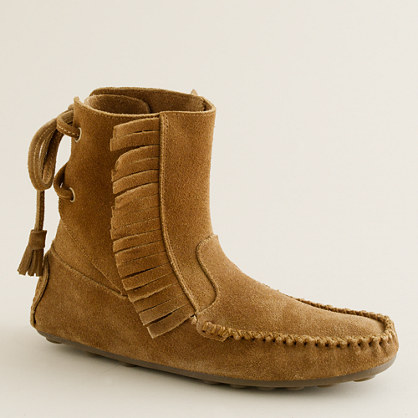 Sienna fringed moccasin booties