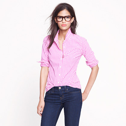 Petite perfect shirt in mini-gingham