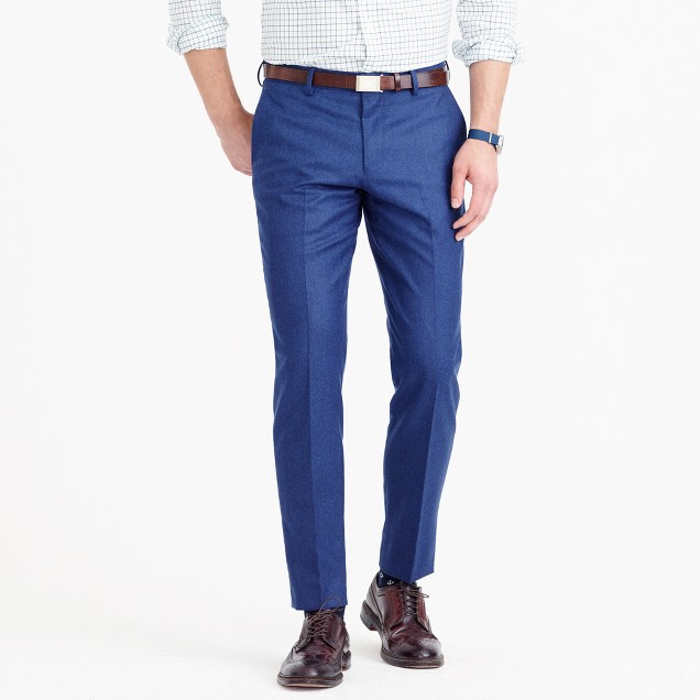 Ludlow suit pant in heathered Italian wool flannel