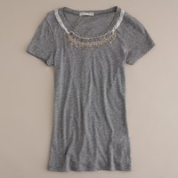 Tissue beaded necklace tee