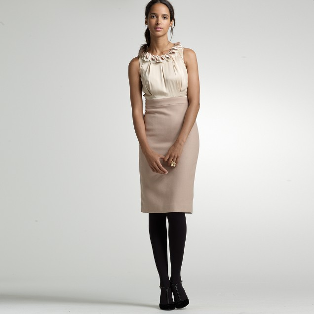 Silk-twill del pelato shift dress