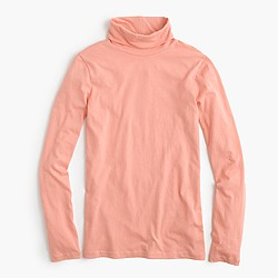 Tissue turtleneck T-shirt