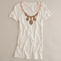Textured jersey ribboned collier tee