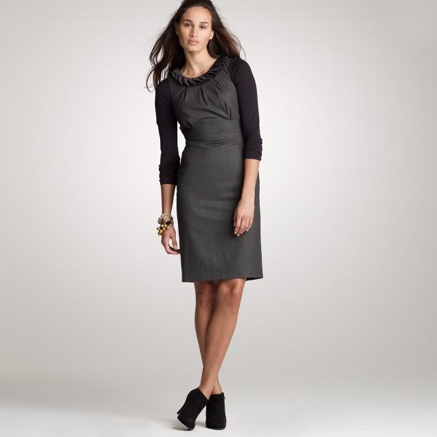 Stretch flannel del pelato shift dress