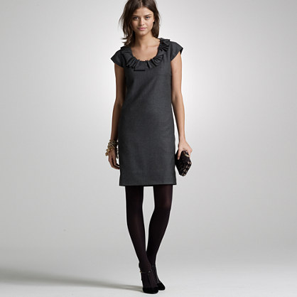 Wool ribbon ravine dress