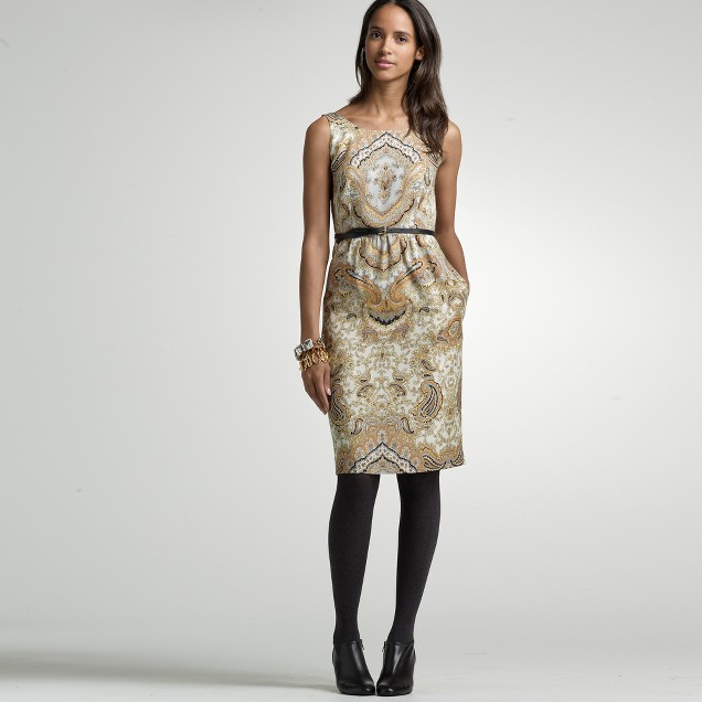 Terra paisley shift dress