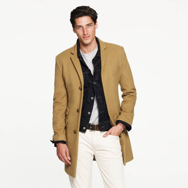 Tall Ludlow topcoat in wool-cashmere with Thinsulate®