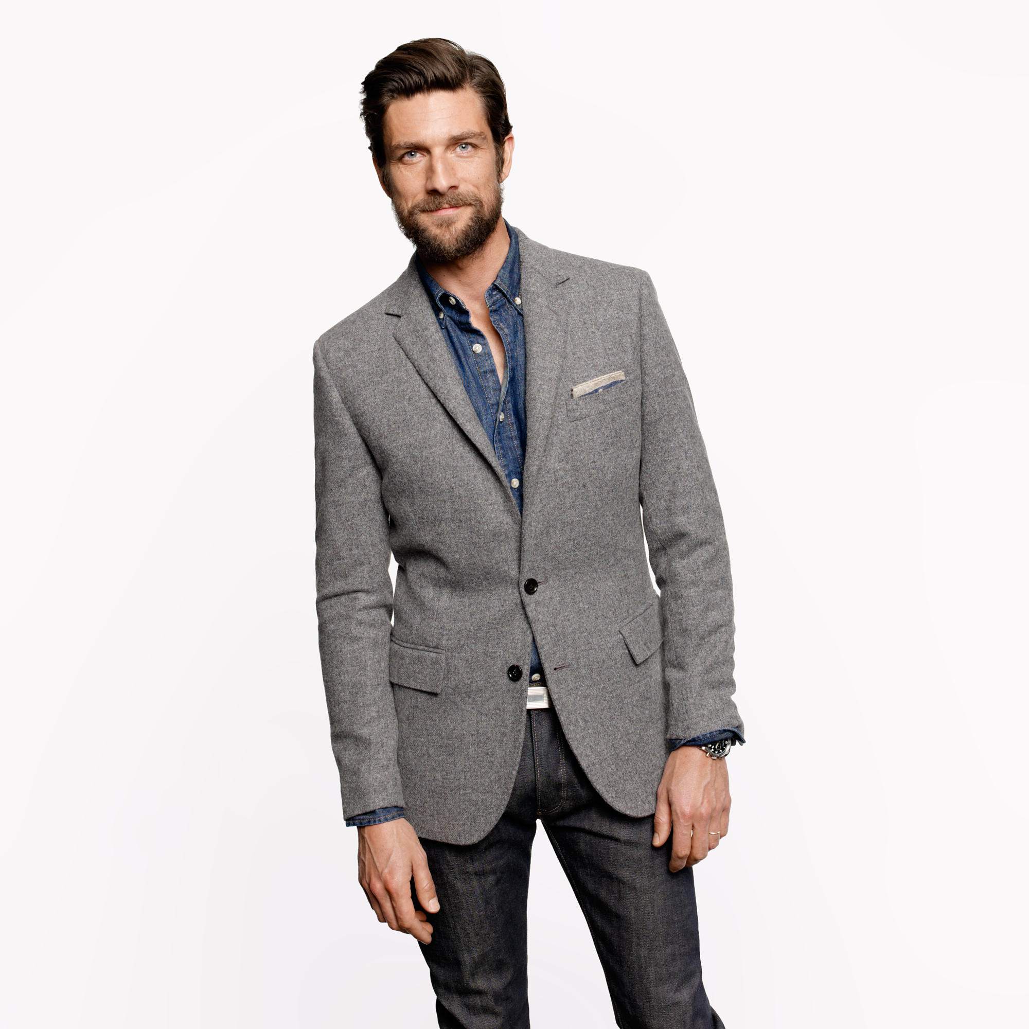 Ludlow elbow-patch sportcoat in Colburn English tweed : | J.Crew