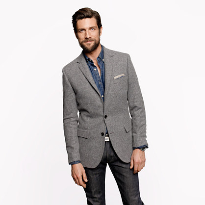 Ludlow elbow-patch sportcoat in Colburn English tweed