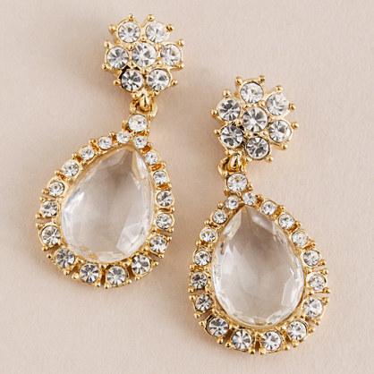 Crystal soiree earrings