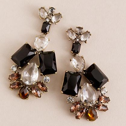 Jeweled garland earrings