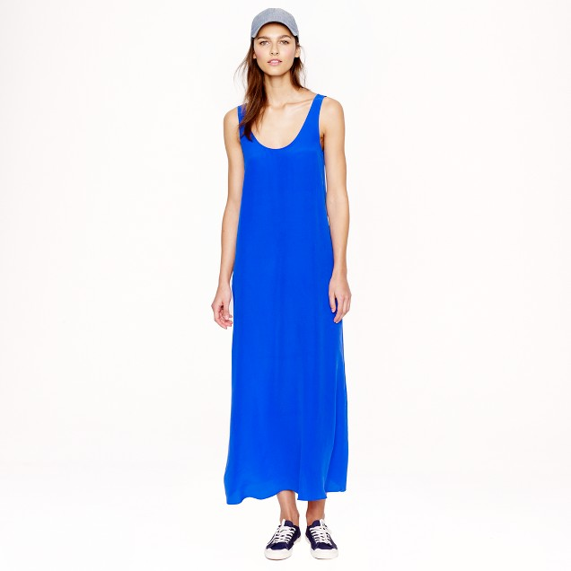 Silk crepe maxidress