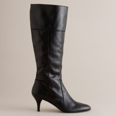 whitby kitten heel leather boots j crew