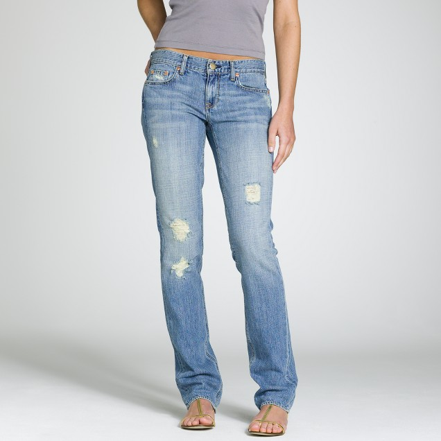 Vintage matchstick jean in busted stone wash