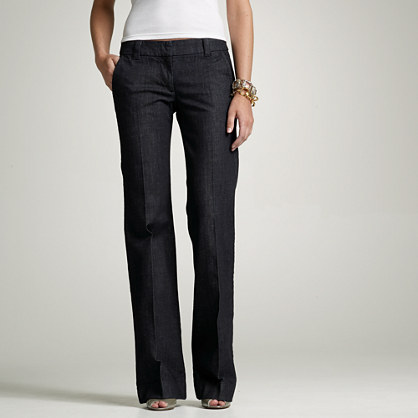 Downtown denim trouser in clean rinse wash