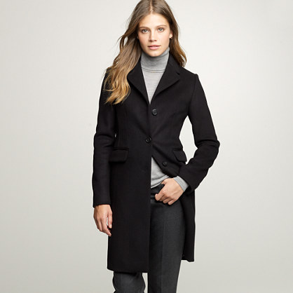 Tall wool-cashmere plaza coat