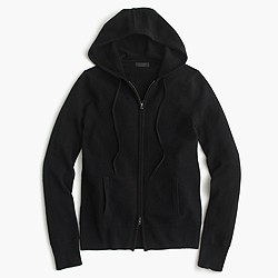 Collection cashmere zip-front hoodie