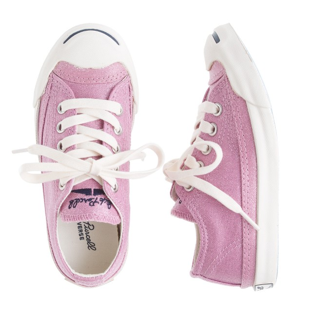 Girls' Converse® Jack Purcell® glitter canvas sneakers