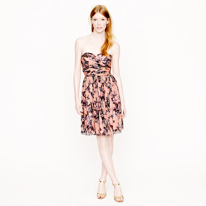 Arabelle dress in hummingbird floral print
