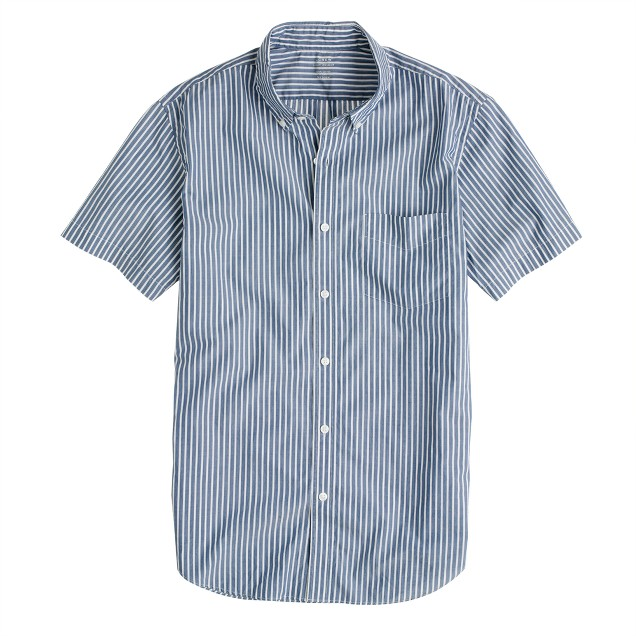 Secret Wash short-sleeve shirt in veranda blue stripe