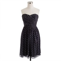 Arabelle dress in polka-dot silk chiffon