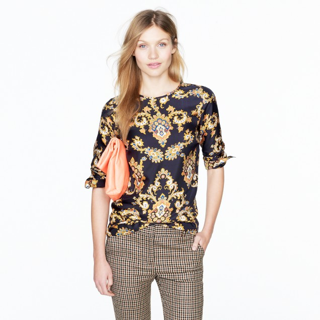 Collection golden paisley blouse