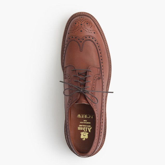 Alden® for J.Crew longwing bluchers in tobacco