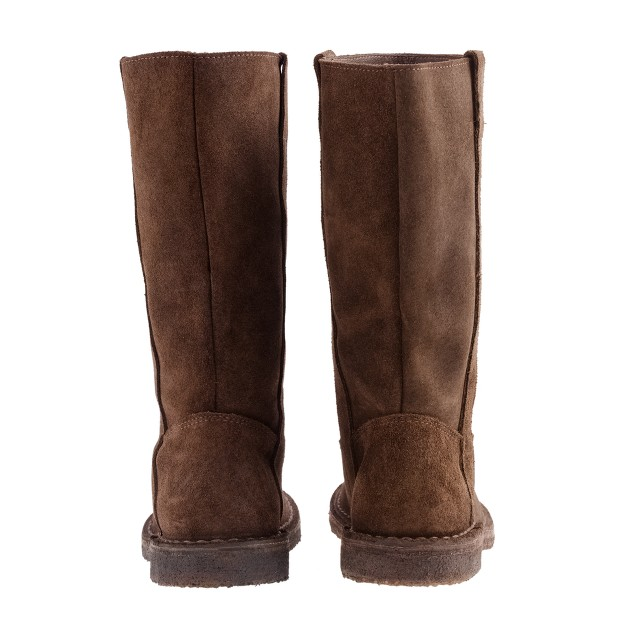 Girls' suede midheight riding boots