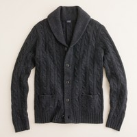 Wool-cashmere cable cardigan