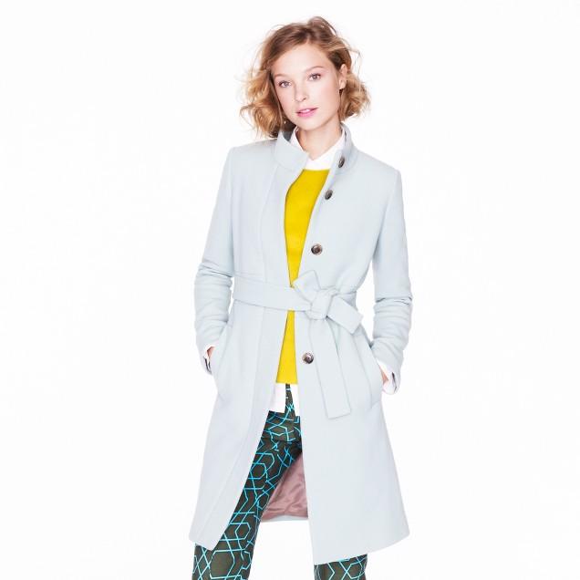 Double-cloth funnel coat