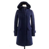 Stadium-cloth duffle coat