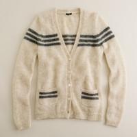 Mohair retro-stripe cardigan