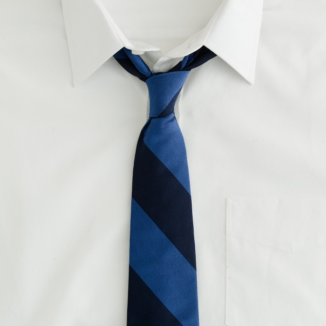 Wide-stripe old-school tie