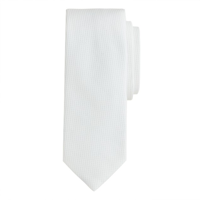 Italian cotton piqué tie