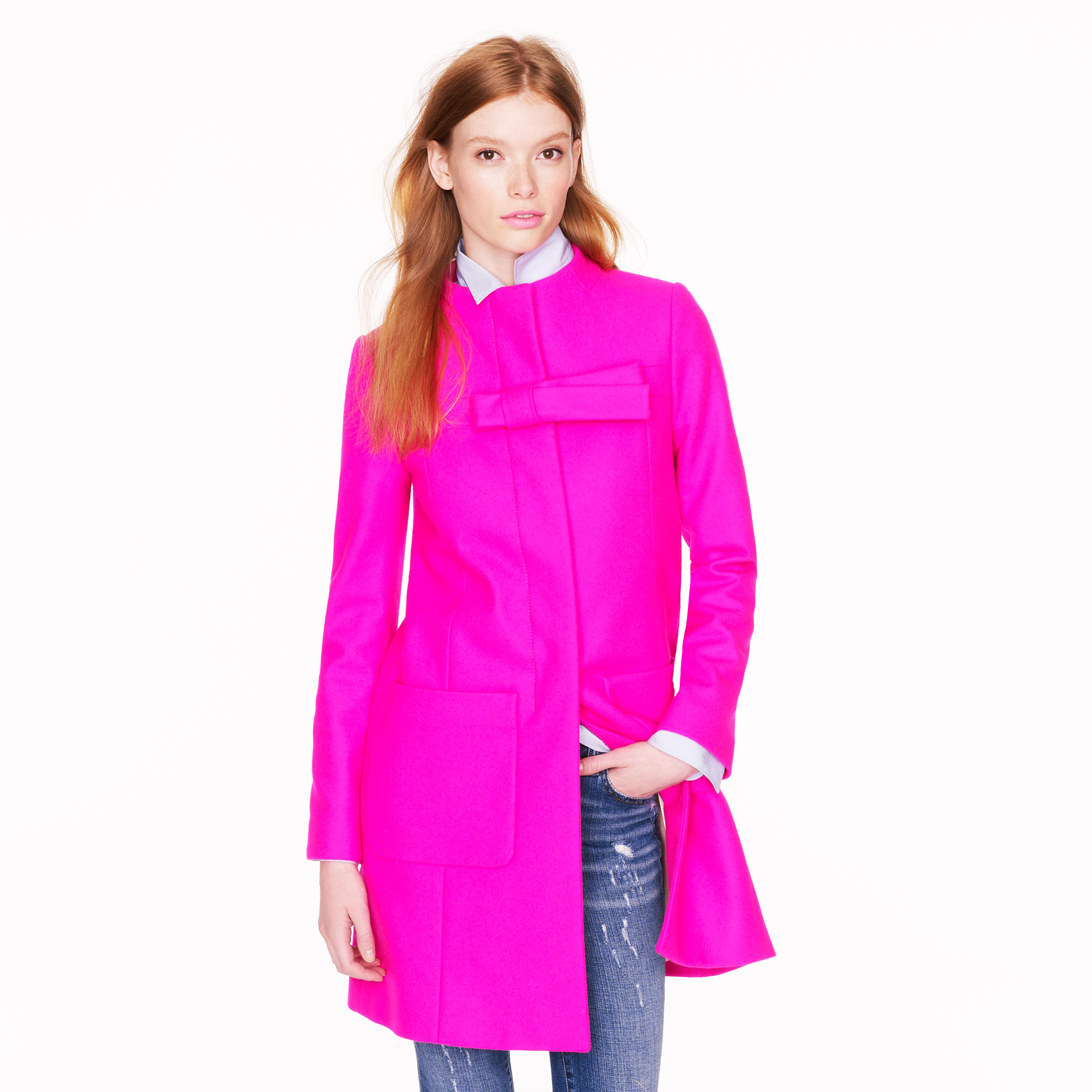 Bow coat : Women wool | J.Crew