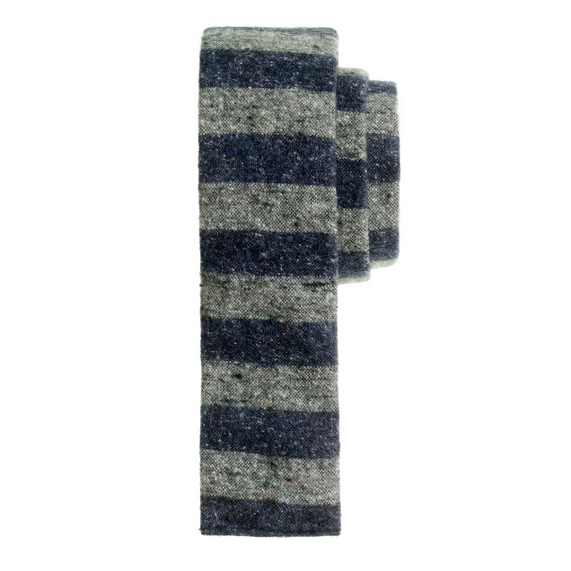The Hill-side® brushed-canvas stripe tie