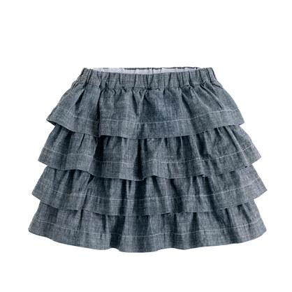 Girls' chambray cupcake skirt